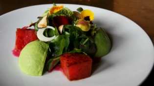 Grilled watermelon salad by Chef Hugo